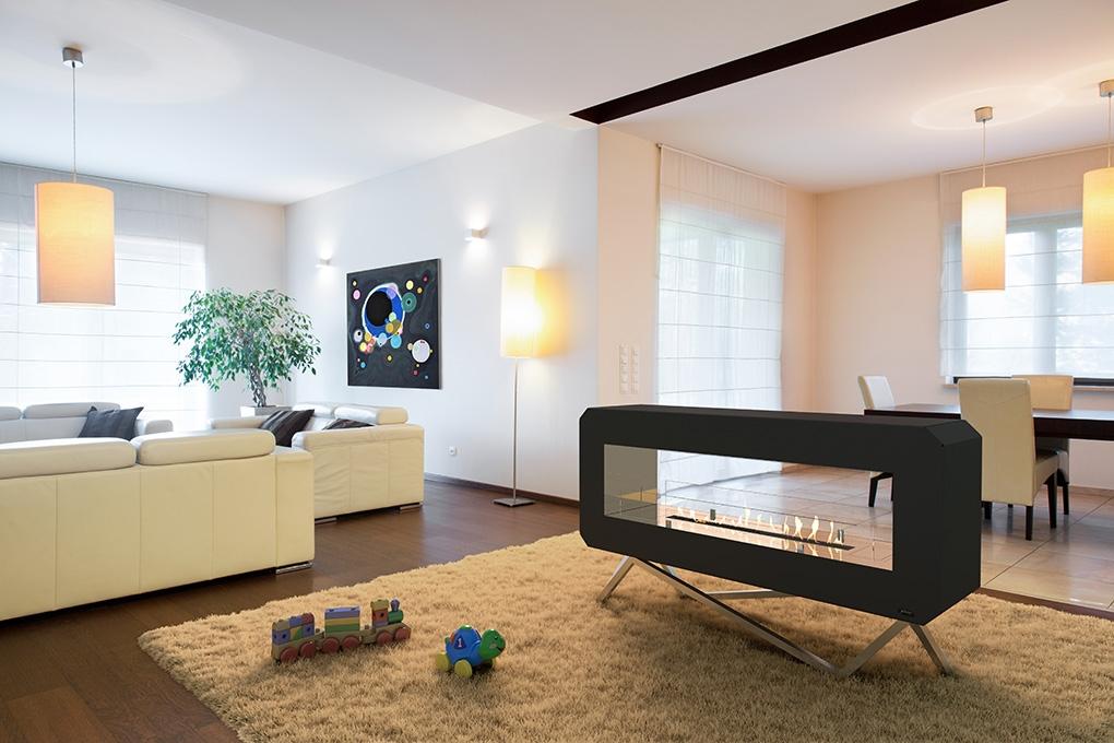 GlammFire bioethanol fire in living room