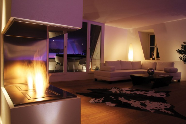 Lighting Up a Room with a Fireplace