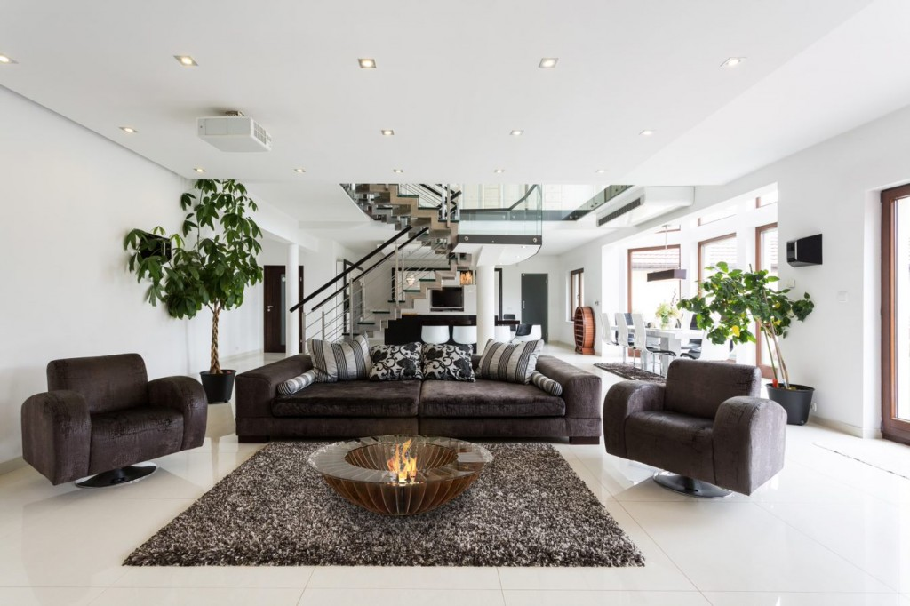 GlammFire bioethanol fire in the living room