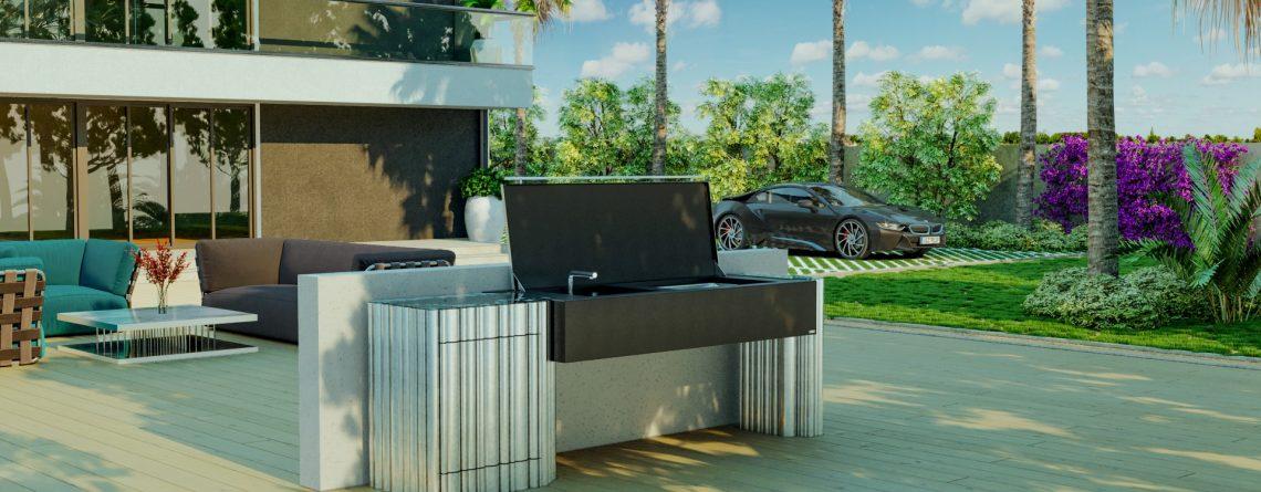 luxury biofuel barbeque